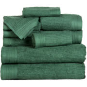 Cambridge Home Ribbed 10-pc. Egyptian Cotton Bath Towel Set