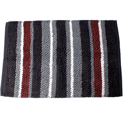 Saturday Knight Evan Stripe Cotton Bath Rug