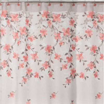 Attractive Saturday Knight Coral Garden Floral Shower Curtain