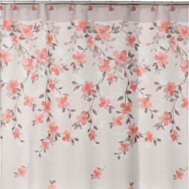 jcpenney.com | Saturday Knight Coral Garden Floral Shower Curtain