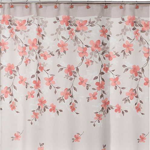 Saturday Knight Coral Garden Floral Shower Curtain
