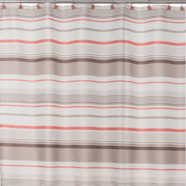 jcpenney.com | Saturday Knight Coral Garden Stripe Shower Curtain