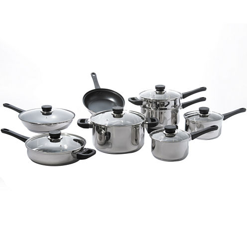 BergHOFF® CooknCo 14-pc. Stainless Steel Cookware Set