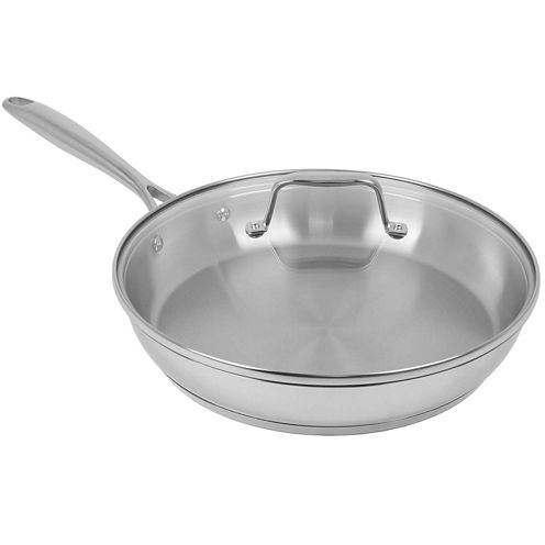 "Oneida® 12"" Covered Stainless Steel Frying Pan"