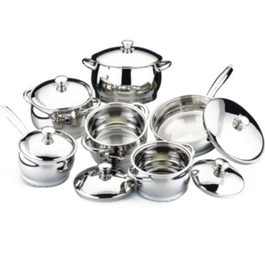 jcpenney.com | BergHOFF® Cosmo 12-pc. Stainless Steel Cookware Set