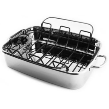 "jcpenney.com | BergHOFF® 15"" Stainless Steel Roaster Pan"