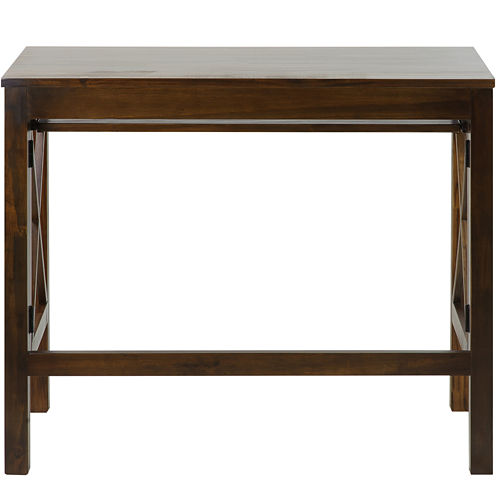 Folding Desk with Pullout Shelf