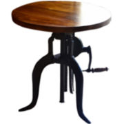 Regan Adjustable Crank Accent Table