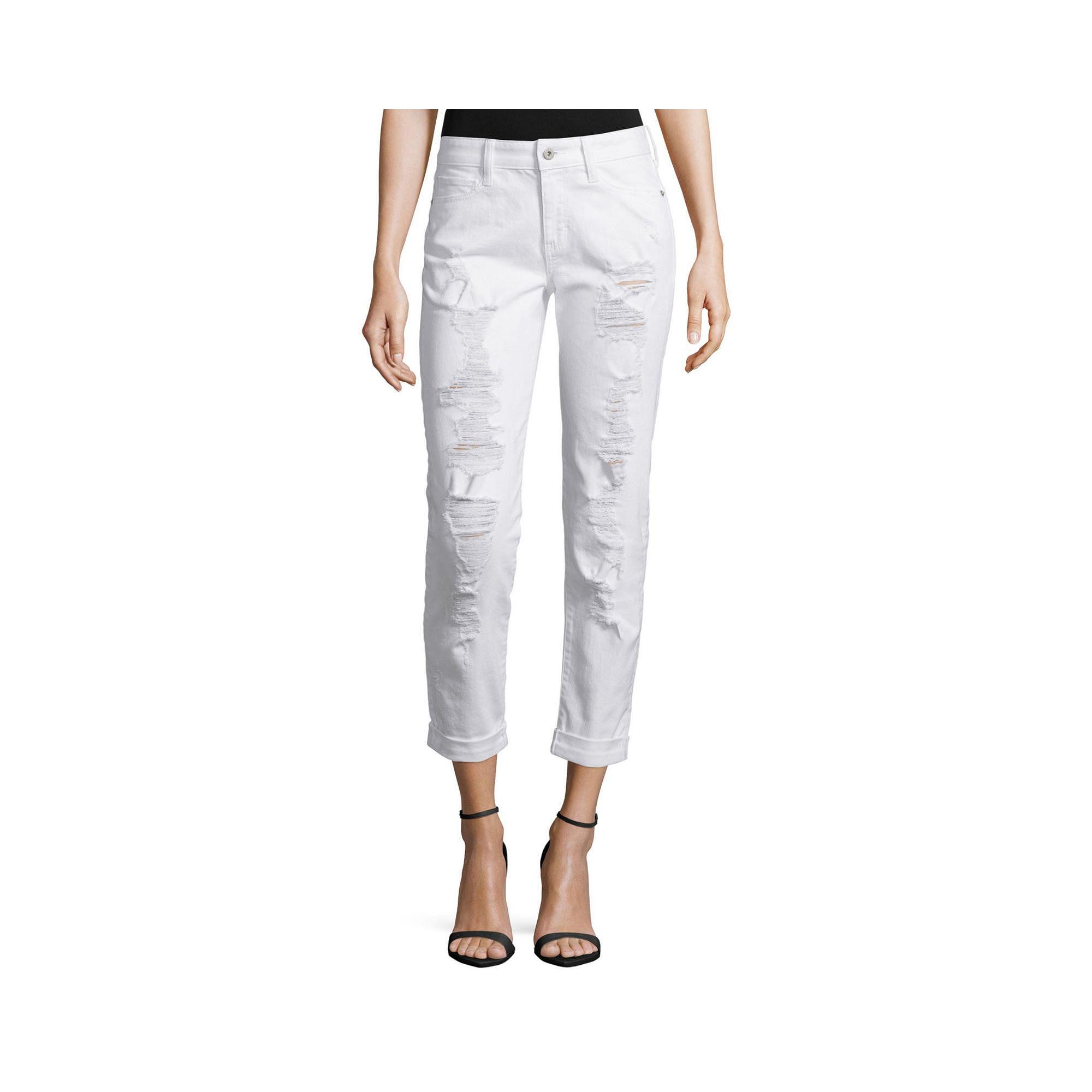 Decree Destructed Boyfriend Jeans plus size,  plus size fashion plus size appare