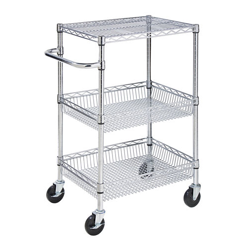 Honey-Can-Do® 3-Tier Urban Rolling Utility Cart