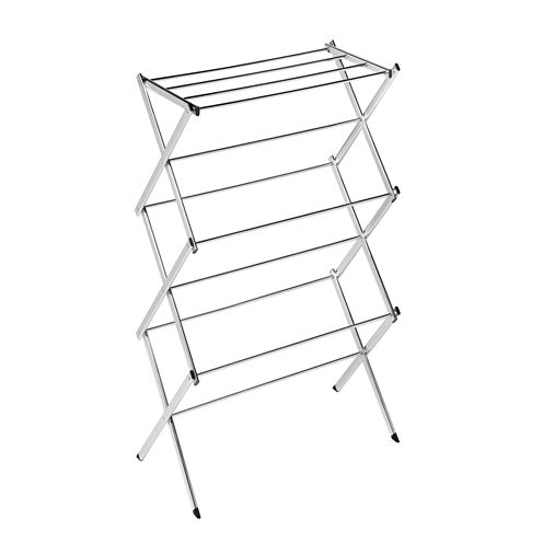 Honey-Can-Do® Slim Chrome Commercial Drying Rack