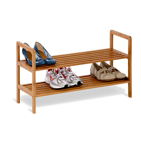 Honey-Can-Do® 2-Tier Bamboo Shoe Shelf