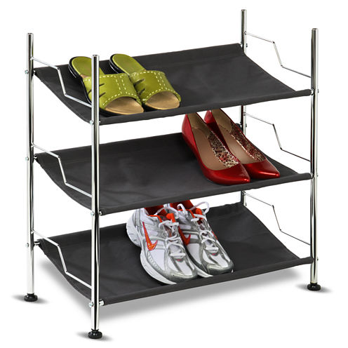 Honey-Can-Do® 3-Tier Canvas Shoe Rack