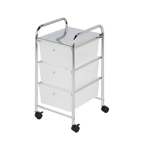 Honey-Can-Do® 3-Drawer Rolling Cart