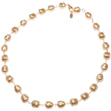 jcpenney.com | dom by dominique cohen Creme Pearlescent Beaded Necklace
