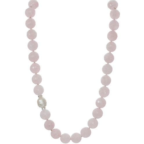 ROX by Alexa Genuine Rose Quartz Necklace