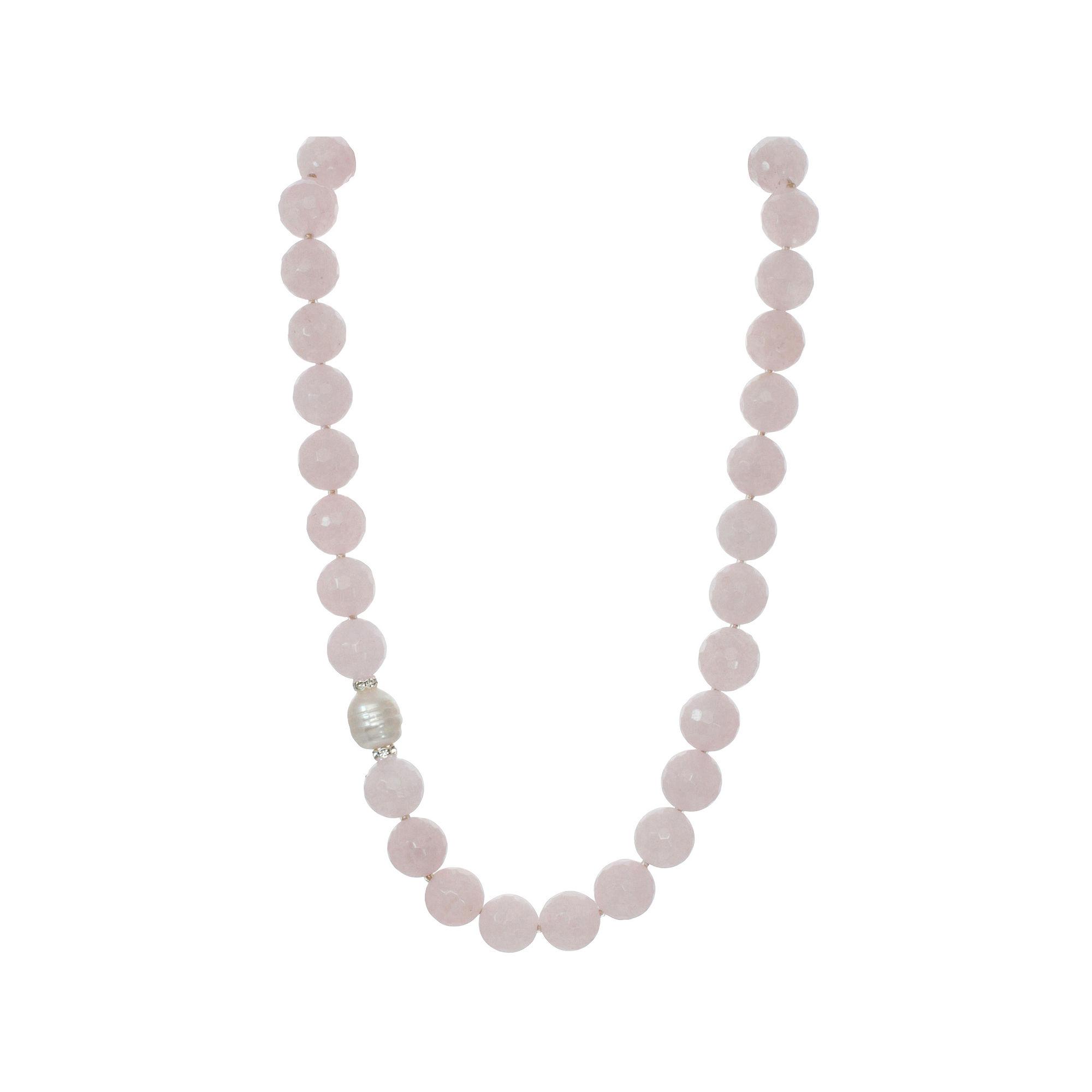 ROX by Alexa Genuine Rose Quartz Necklace