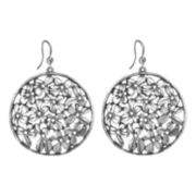 dom by dominique cohen Gunmetal Cubic Zirconia Wildflower Earrings