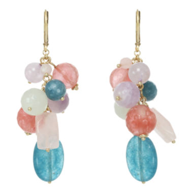 jcpenney.com | ROX by Alexa Mixed Gemstone Wire Drop Earrings