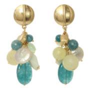 ROX by Alexa Gold-Tone Chunky Gemstone Earrings