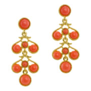 KJL by KENNETH JAY LANE Simulated Coral Drop Earrings