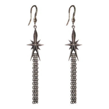 jcpenney.com | dom by dominique cohen Gunmetal Deco Star Tassel Earrings
