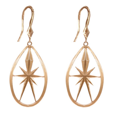 jcpenney.com | dom by dominique cohen Gold-Tone Deco Star Teardrop Earrings Small