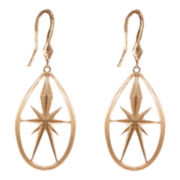 dom by dominique cohen Gold-Tone Deco Star Teardrop Earrings Small