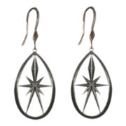 dom by dominique cohen Gunmetal Deco Star Small Teardrop Earrings