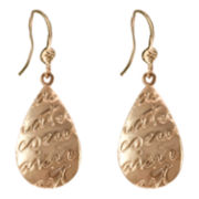 dom by dominique cohen Gold-Tone Beau Coeur Teardrop Earrings