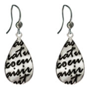 dom by dominique cohen Gunmetal Coeur Teardrop Earrings