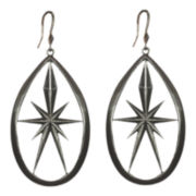 dom by dominique cohen Gunmetal Star Teardrop Earrings