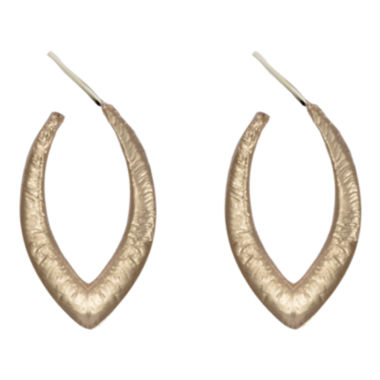 jcpenney.com | dom by dominique cohen Gold-Tone Textured Dagger Hoop Earrings