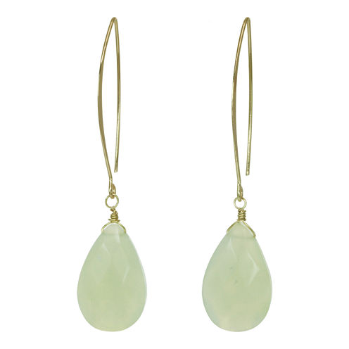 ROX by Alexa Green Glass Teardrop Earrings