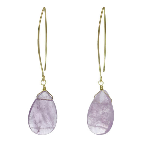 ROX by Alexa Purple Cape May Teardrop Earrings