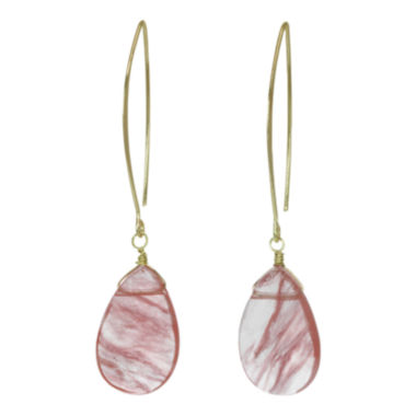 jcpenney.com | ROX by Alexa Red Glass Teardrop Earrings