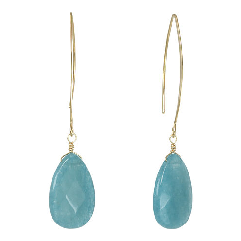 ROX by Alexa Aquamarine Teardrop Earrings