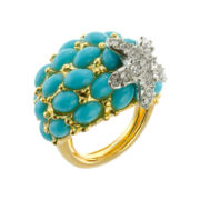 KJL by KENNETH JAY LANE Simulated Turquoise Starfish Ring