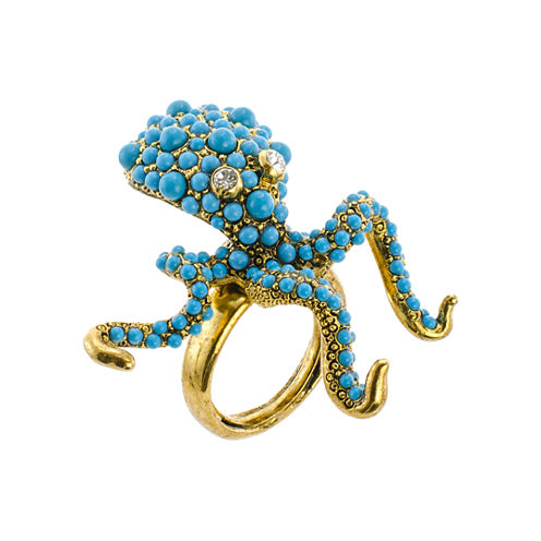 KJL by KENNETH JAY LANE Simulated Turquoise Octopus Ring
