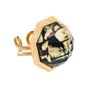 dom by dominique cohen Gold-Tone & Onyx Statement Ring
