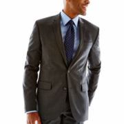 Claiborne Pinstriped Slim-Fit Wool Suit Jacket