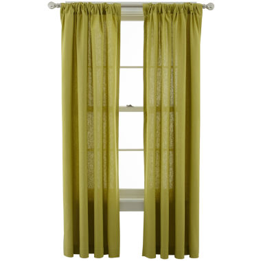 jcpenney.com | MarthaWindow™ Caldwell Rod-Pocket/Back-Tab Curtain Panel