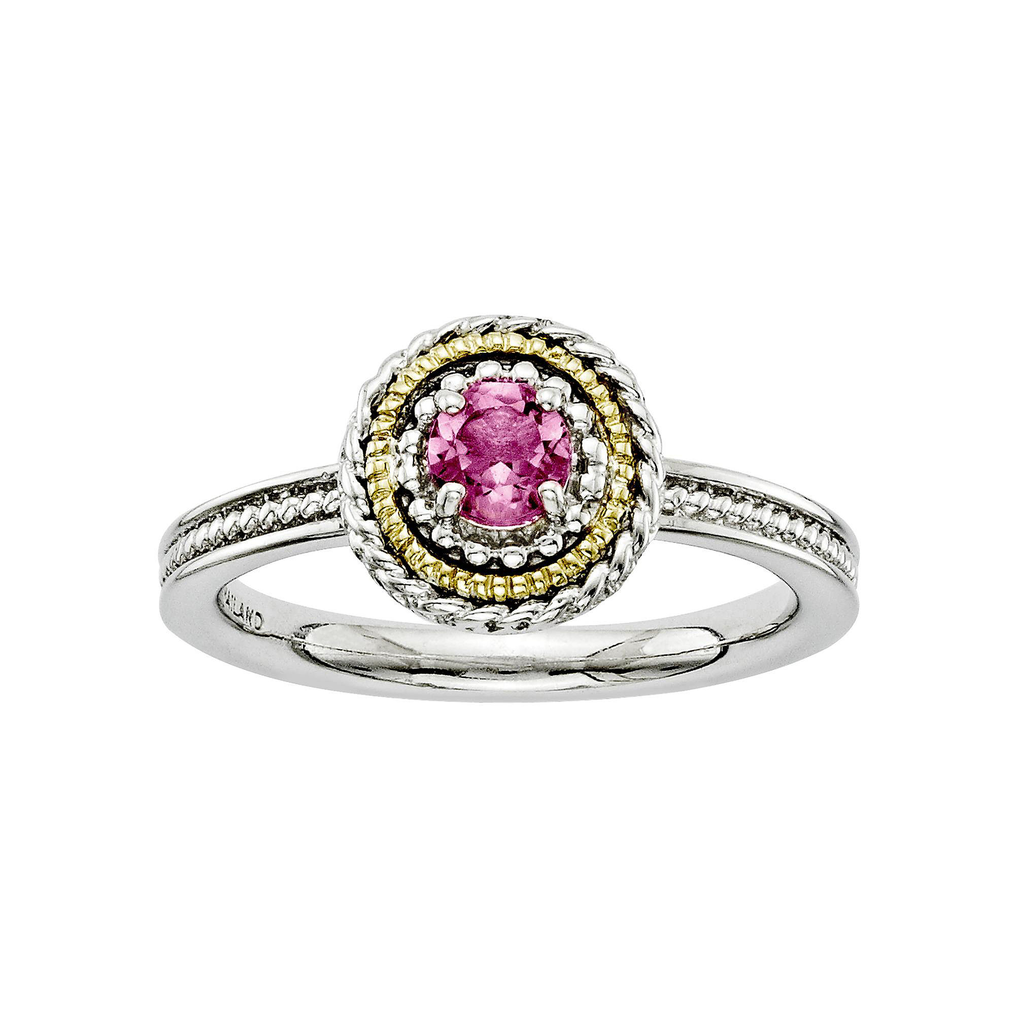 Personally Stackable Two-Tone Tourmaline Ring
