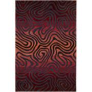 Nourison® Fun Maze High-Low Carved Rectangular Rug