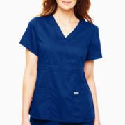 Grey's Anatomy™ Womens Scrubs, Mock Wrap Top