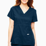 Grey's Anatomy™ Womens Scrubs, Mock Wrap Top