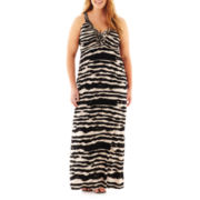 a.n.a® Sleeveless Braided Halter Maxi Dress - Plus