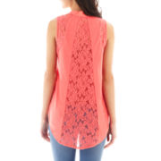 HOLLYWOULD Sleeveless Lace Tank Top