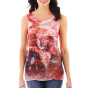 i jeans by Buffalo Print Sateen-Front Tank Top