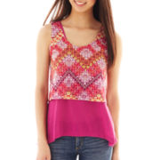 Self Esteem® Sleeveless Print Top